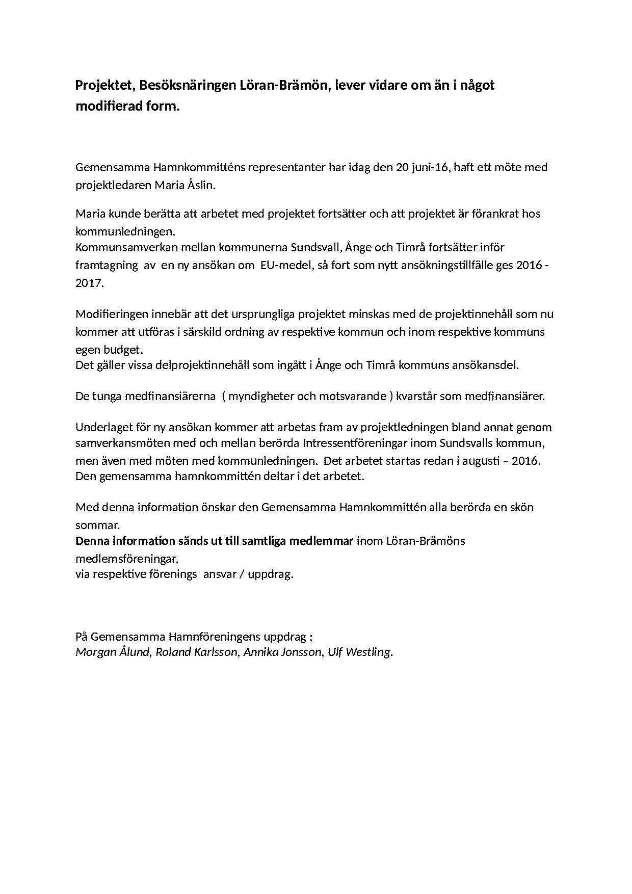 Projektet Löran-Brämön