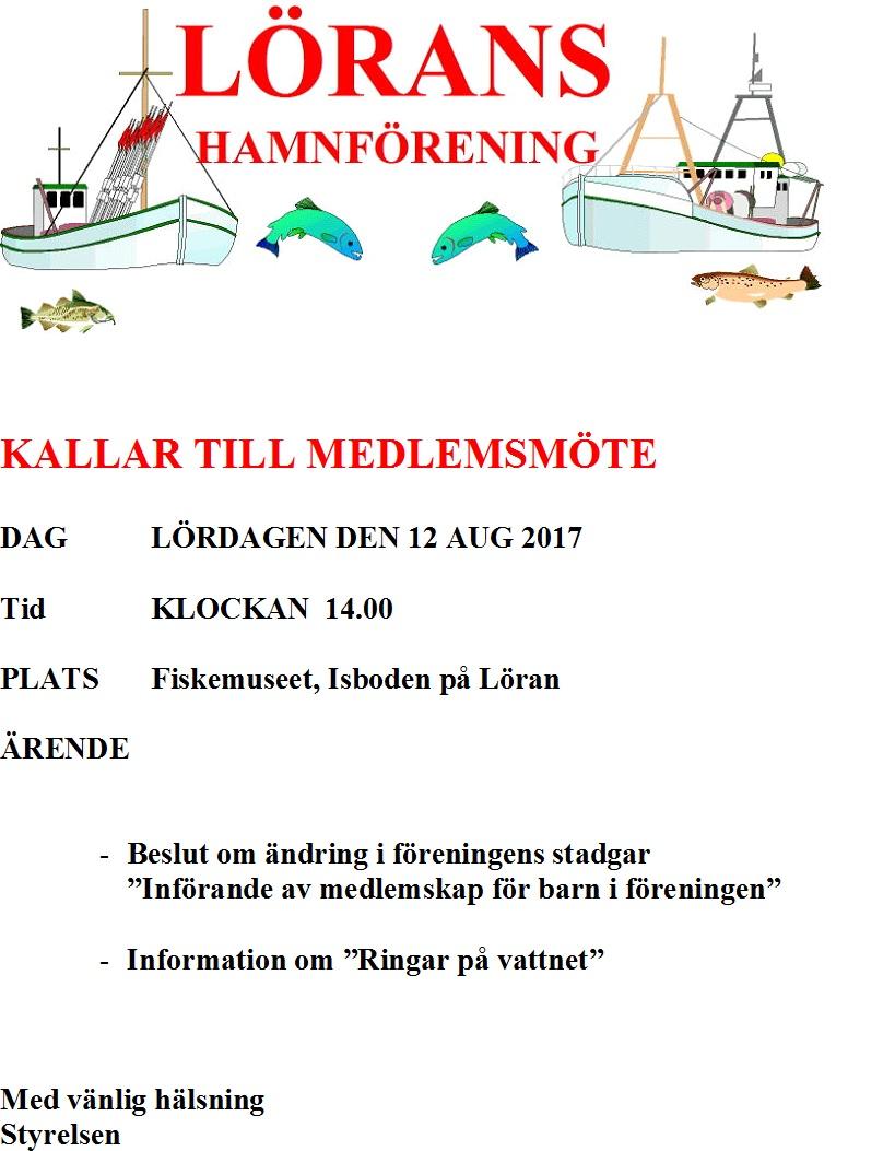 Kallelse till medlemsmöte 2017-08-12